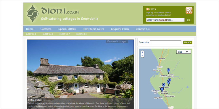Dioni self-catering cottages in Snowdonia
